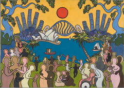 Carl Milton's winning painting 'Sydney'