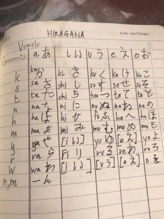 hiragana japanese