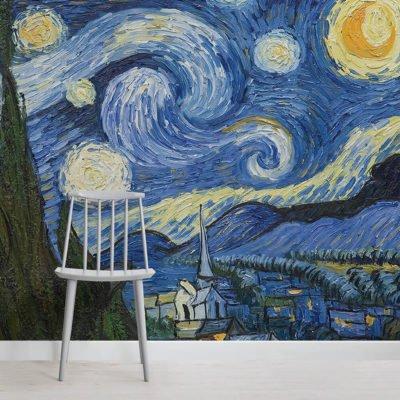 wallpaper starry-night-art-square-400x400